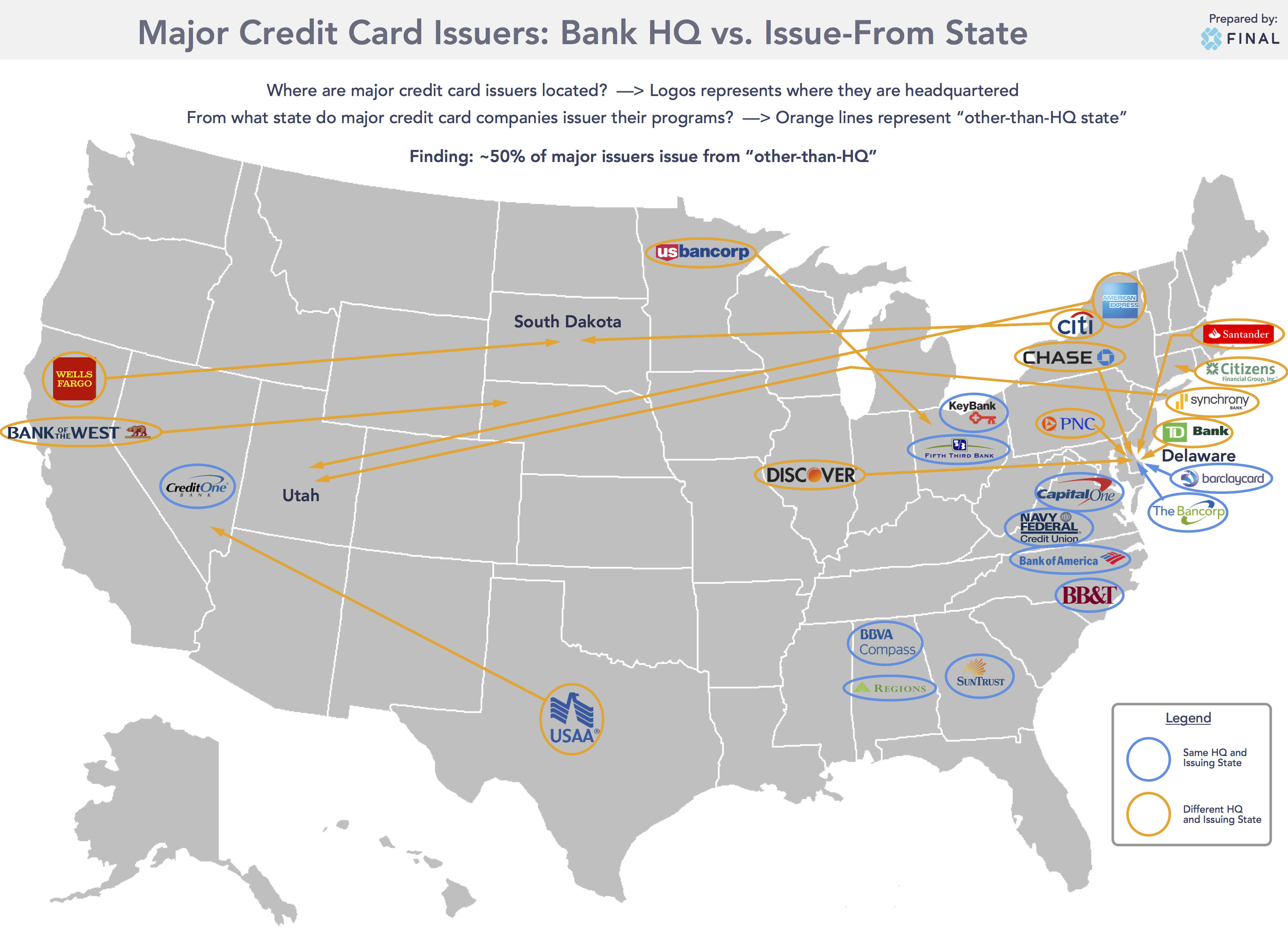 Major Issuer States Map Infographic
